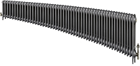 Eastgate Victoriana 3 Column 52 Section Cast Iron Radiator 450mm High x 3164mm Wide - Metallic Finish